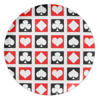 Fun Deck of Cards Plate