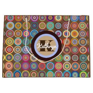 Fun & Decorative Circles Large Gift Bag