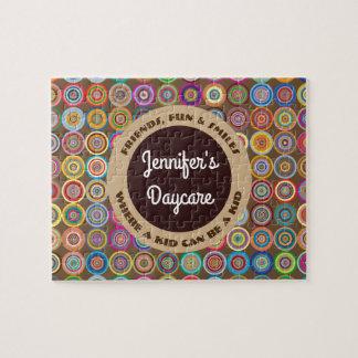 Fun & Decorative Circles Personalized Daycare Jigsaw Puzzle
