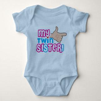 fun design for twin new born baby baby bodysuit