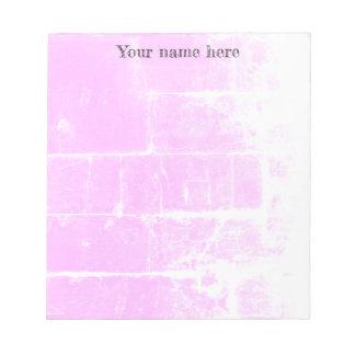 Fun destroyed pink design notepad