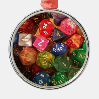 Fun Dice design for gamers Christmas Ornament