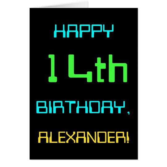Fun Digital Computing Themed 14th Birthday Card