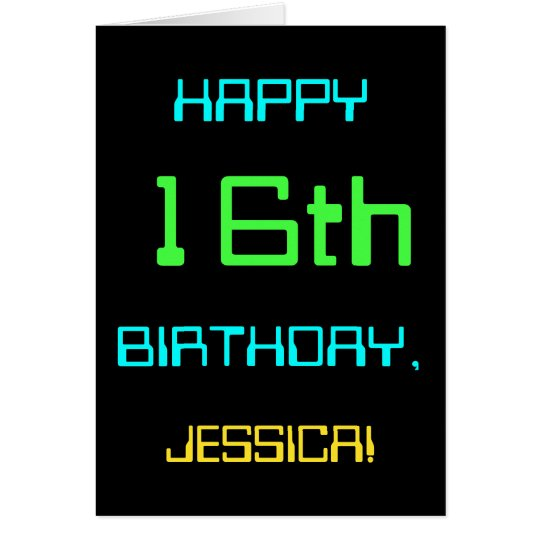 Fun Digital Computing Themed 16th Birthday Card