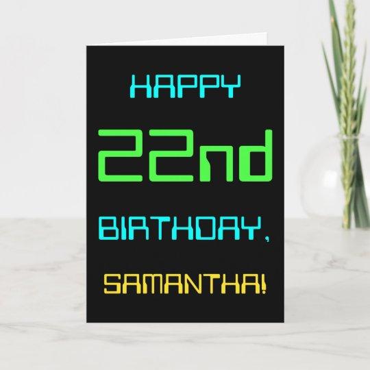 Fun Digital Computing Themed 22nd Birthday Card Zazzle