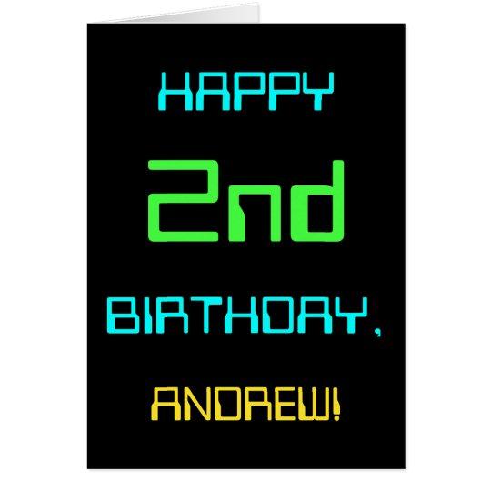 Fun Digital Computing Themed 2nd Birthday Card