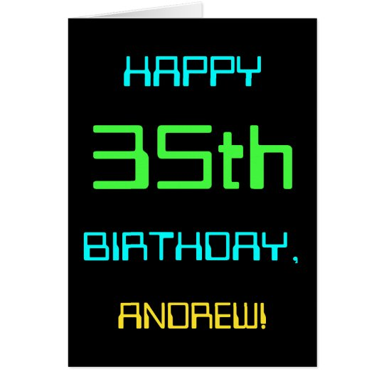 Fun Digital Computing Themed 35th Birthday Card