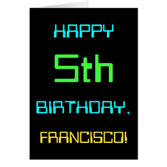 Fun Digital Computing Themed 5th Birthday Card