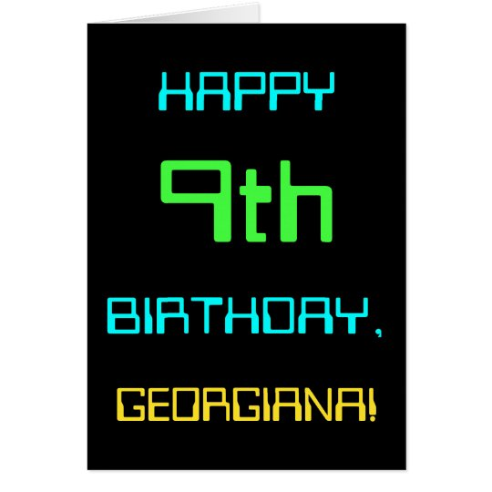 Fun Digital Computing Themed 9th Birthday Card