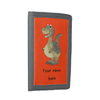 fun dinosaur trifold wallets
