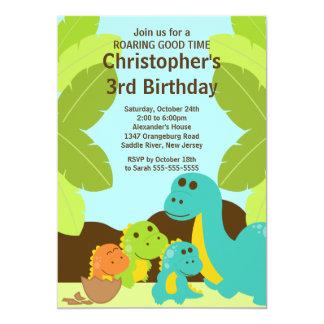 Fun Dinosaurs Birthday Party Invitation