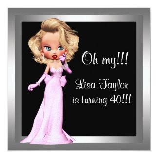 Fun Diva Womans Birthday Party 13 Cm X 13 Cm Square Invitation Card