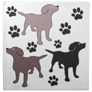 Fun Dog and Paw Print Cloth Napkins