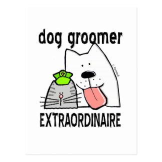 Fun Dog Groomer Extraordinaire Post Card
