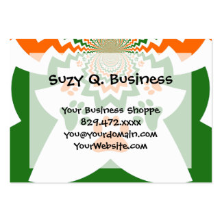 Fun Dog Lovers Puppy Paw Prints Chevron Pattern Business Card Template