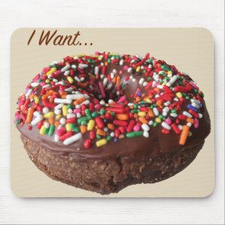 Fun Donut Mousepad Chocolate Sprinkle