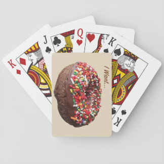 """Fun Donut Playing Cards """"I Want"""""""