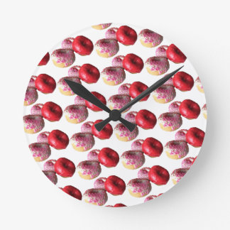 Fun Donuts Round Wall Clock