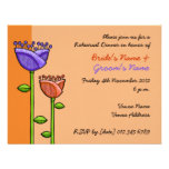 Fun Doodle Flowers orange purple Rehearsal
