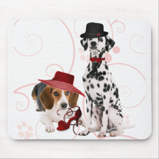 Fun Dressed Up Dogs for the Dog Mom Mouse Mat