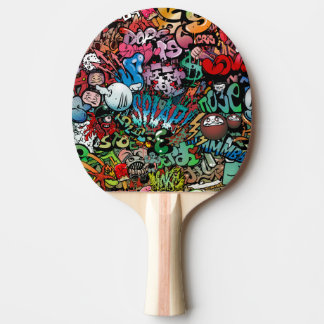 Fun dynamic and explosive Urban street art Graffit Ping Pong Paddle