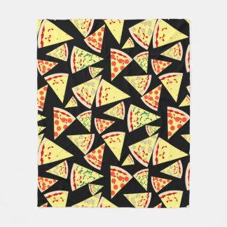 Fun Dynamic Random Pattern Pizza Lover's Fleece Blanket