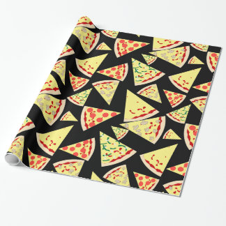 Fun Dynamic Random Pattern Pizza Lover's Wrapping Paper