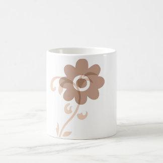 Fun Earthy Flower Basic White Mug