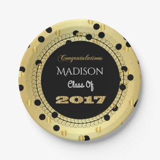 Fun & Elegant 2017 Graduation Paper Plate