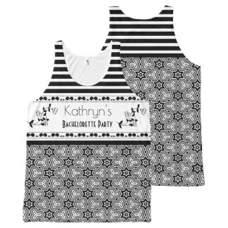 Fun & Elegant Custom Bachelorette Party All-Over Print Tank Top