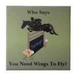 Fun Equestrian Horse Jumper Ceramic Tiles