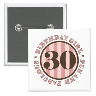 Fun & Fabulous 30th Birthday Gifts 15 Cm Square Badge