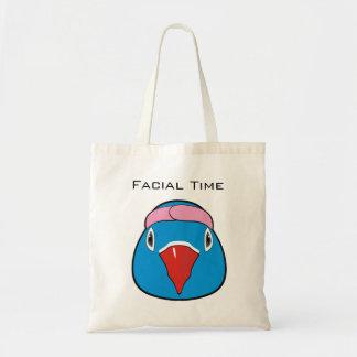 Fun facial budget tote bag
