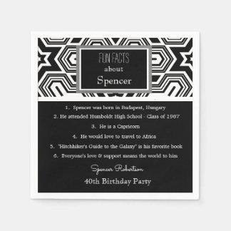Fun Facts Birthday Cool Retro Paper Napkin