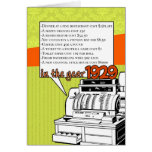 Fun Facts Birthday – Cost of Living in 1929 Cards