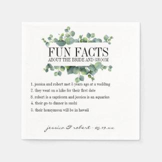 Fun Facts Eucalyptus Foliage Personalized Disposable Napkin