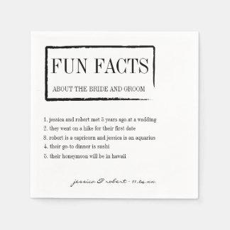 Fun Facts Personalized Paper Napkins Disposable Serviette