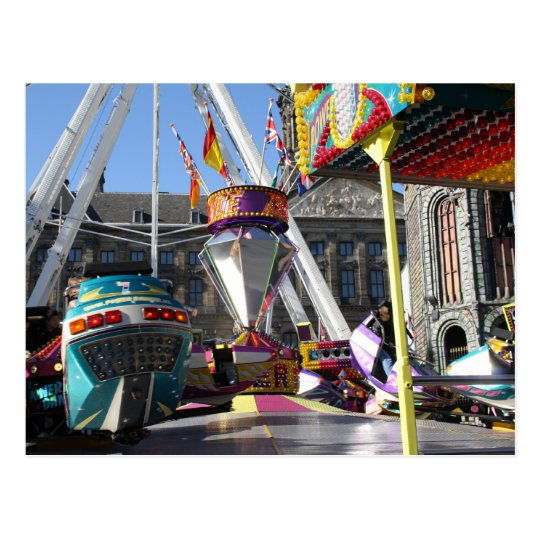 Fun fair in Amsterdam Postcard