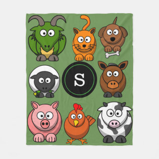Fun Farm Animals Fleece Blanket