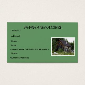 "Fun Farm Shack ""Change of Address"" Business Card"