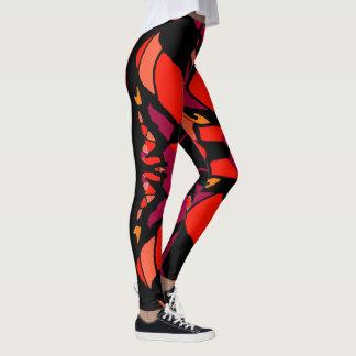 Fun Fashion Leggings-Red/Black/Peach/Gold/Magenta Leggings