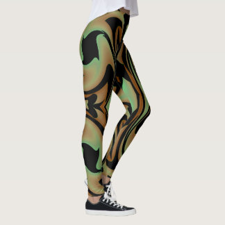 Fun Fashion Leggings-Women-Brown/Green/Black Leggings