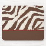 Fun & Fashionable Brown/Red Giraffe Print Mouse Pad