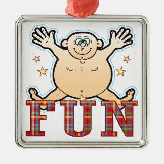 Fun Fat Man Christmas Ornament