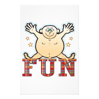 Fun Fat Man Stationery