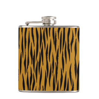 Fun Faux Tigerprint Hip Flask