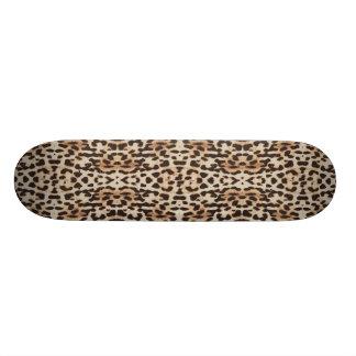 Fun Faux Wild Leopard Print Skateboard Deck