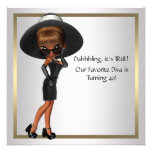 Fun Favourite Diva Womans Black 40th Birthday Part Personalised Announcement