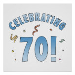 Fun Festive 70th Birthday Gifts Posters