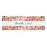 Fun & Festive Colourful Glitter Celebration Insert Pack Of Skinny Business Cards